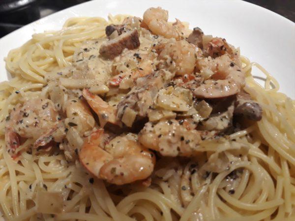 pasta met garnalen