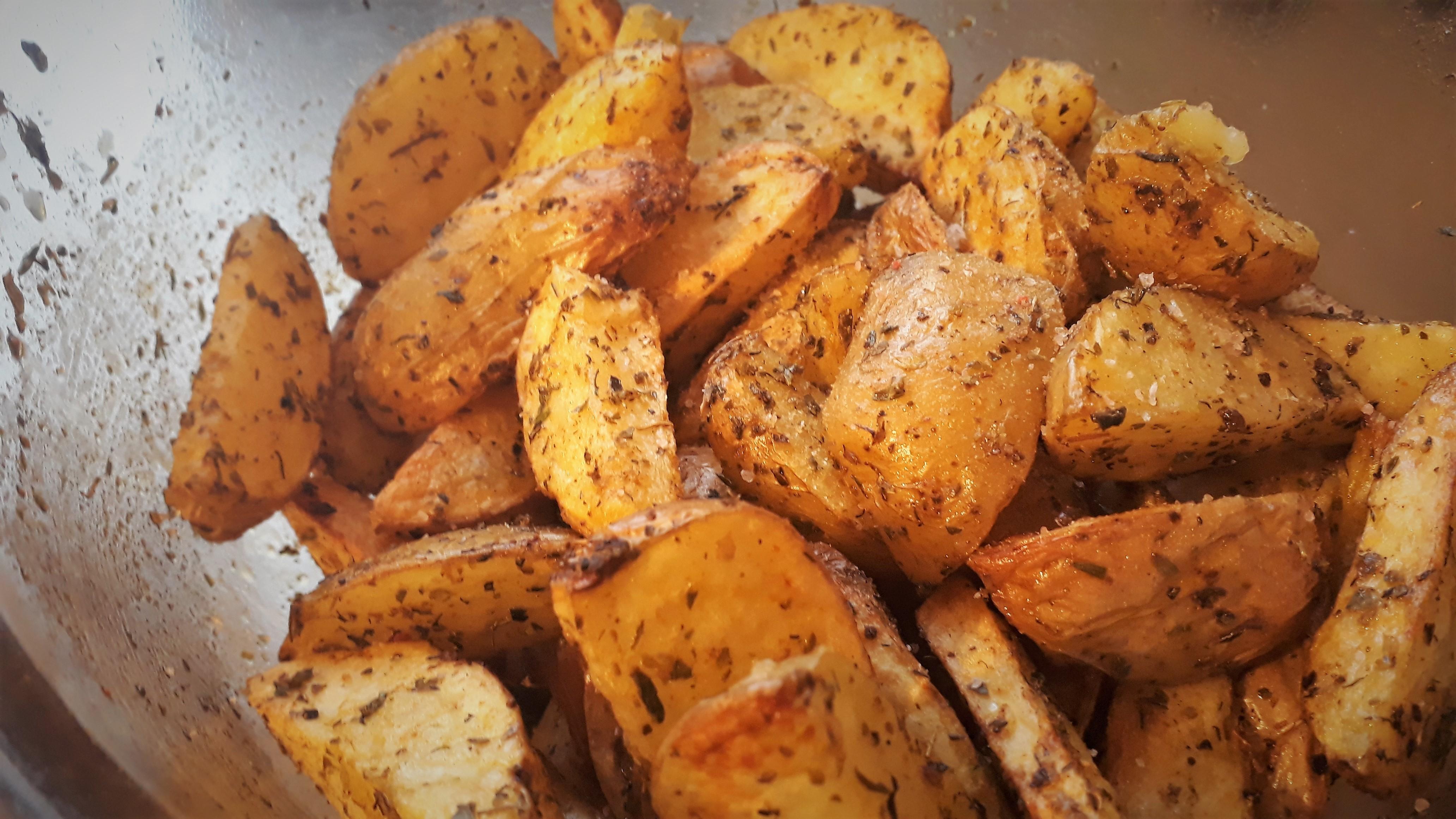 Aardappelen uit de airfryer