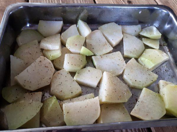 Koolrabi uit de oven